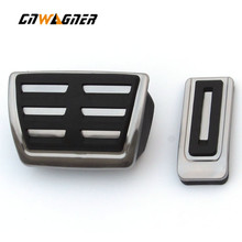 for Volkswagen Multivan T5 T6 Caravelle T6 Metal Gas Fuel Brake Car Pedal Pads Mats Cover Accessories Car Styling new arrival car foot pedal for tesla model 3 accelerator gas fuel brake pedal pads mats cover accessories car styling