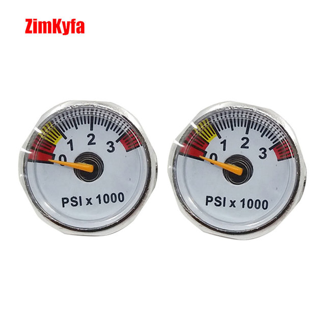 Paintball PCP Air Gun Rifle Pressure Gauge 3500psi Mini Micro Manometre Manometer 1/8npt 25mm