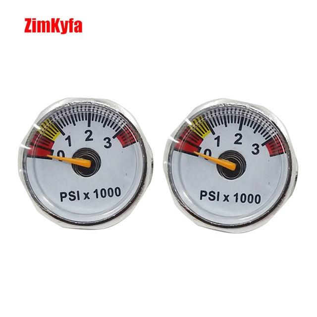 Paintball PCP wiatrówka manometr 3500psi Mini manometr manometru 1/8npt 25mm