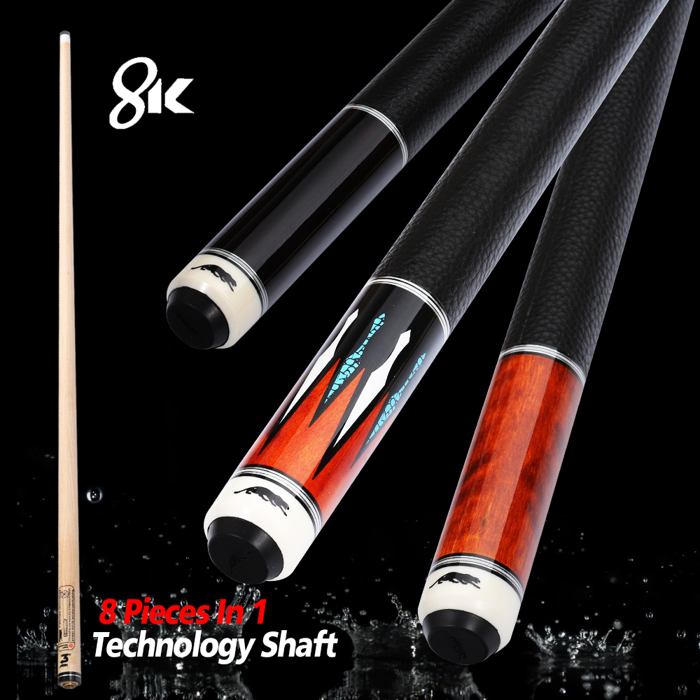 PREOAIDR 8K Billiard Shaft 11.75mm 12.75mm Tip 8 Pieces in 1 Tecnologia Shaft Professional Billar Pool Cue Technology Maple Butt