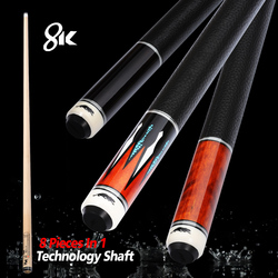 PREOAIDR 8K Billiard Shaft 11.75mm 12.75mm Tip 8 Pieces in 1 Tecnologia Shaft Professional Billar Pool Cue Technology Maple Butt