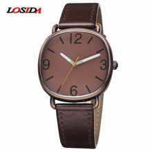 Купить с кэшбэком Losida Limited New Arrival Brand Unisex Bronze Vintage Watch Precise Quartz Clock Luminous Wristwatch Retro Leather Strap Watch