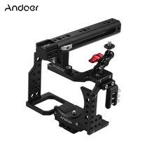 Andoer هيكل قفصي الشكل للكاميرا فيلم فيديو فيلم صنع استقرار الباردة حذاء تصاعد محول لسوني A7II/A7III/A7SII/A7M3/A7RII/A7RIII