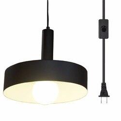 Wtyczka przemysłowa Ganeed w świetle wiszącym  vintage wiszące oprawa oświetleniowa z przełącznikiem On/Off 16.4ft w Wiszące lampki od Lampy i oświetlenie na