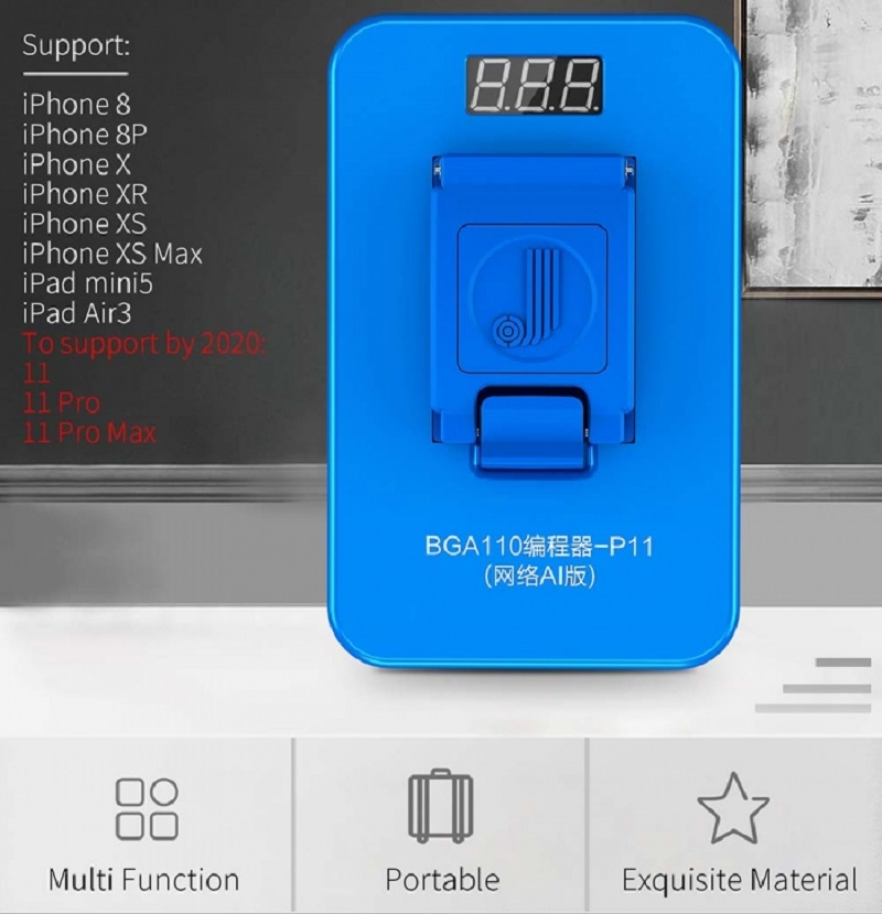 Image 5 - JC P11 BGA110 Programmer For iPhone 8/8P/X/XR/XS/XSMAX NAND Flash for Apple BGA110 NAND SYSCFG Data Modification & Write RepairHand Tool Sets   -