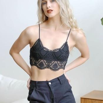 YL-5532 Leto Intimates Brand Crochet Lace Longline Bralette Most Popular Design 2020 for Fashion Girls hook front crochet lace bralette