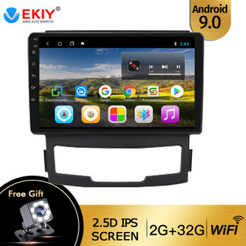 EKIY 9'' IPS Car Radio Android 9.0 Auto Stereo Multimedia For Ford S-Max Ford S Max 2007 2008 GPS Navi Navigation WiFi Car DVD image