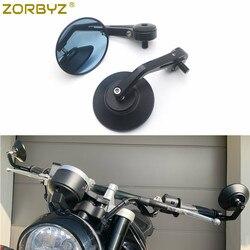Черное алюминиевое круглое боковое зеркало на руль мотоцикла ZORBYZ с болтом M10 подходит для Aprilia FB Global HPS 300