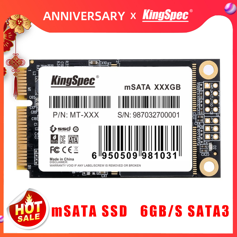KingSpec SSD 64GB Mini MSATA SATA3 128GB 256GB Internal Solid State Drive Hard Disk For Acer EC 47 Tablet Laptop Desktop PC