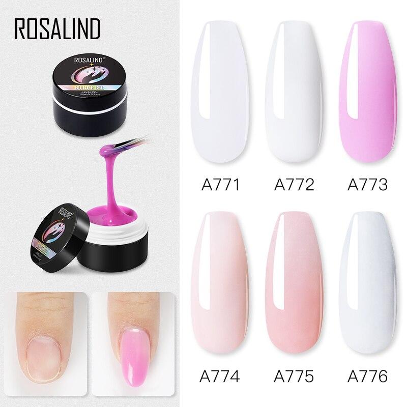ROSALIND 15ML Builder Gel Nail Polish Clear Nail Poly Gel Varnishes For Nail Art Designed Soak Off Semi Permanent UV Lamp Gel