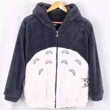 Bluza z kapturem Totoro Kawaii bluza z kapturem mężczyźni kobiety Harajuku miękki pluszowy płaszcz z uszami Plus rozmiar Cosplay śliczna kurtka płaszcz tanie tanio Poliester CN (pochodzenie) Bluzy REGULAR Pełna STANDARD Suknem FQ4706 350g Zip-up WOMEN Drukuj Na co dzień Wieku 16-28 lat