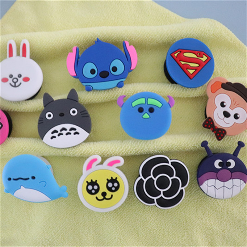 Cute Cartoon Expanding Phone Holder Car Mount Lazy Hand Finger Ring Grip Holder Flexible Pocket Desk Stand For IPhone 6 7 8