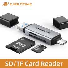 Card-Reader USB3.0 Type-C CABLETIME 2IN1 Otg-Adapter Macbook Micro-Sd Xiaomi To for Air-N421