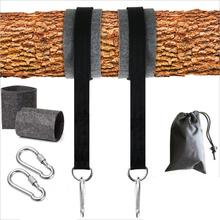 High Durable Safety Strength Polyester Heavy Duty Swing Straps Hanging Kit Hammock Straps With Lock Carabiner Hooks