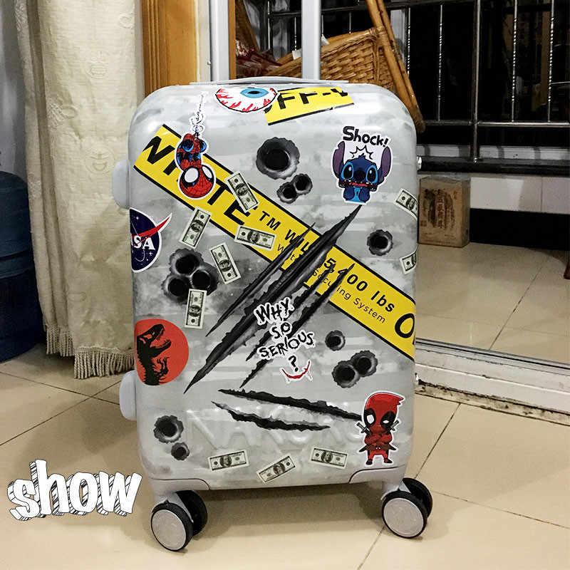 Naklejki bagażowe pcv zabawki 3.9*2.3 cala One Piece Deadpool naklejki Marvel Anime naklejka Laptop dzban gitara deskorolka udekoruj