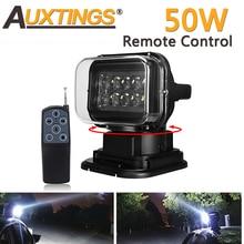 Auxtings 360 ° rotation 50W LED Arbeit Licht Fernbedienung Suche LED Licht Magnetic Wireless 12V 24V für Off road Lkw Auto SUV