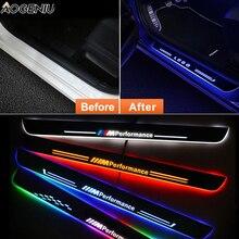 LED kapı eşiği için E90 E91 E93 2006 2011 pedalı eşik karşılama ışıkları Nerf barlar koşu panoları araba sürtme plakası muhafızları lamba