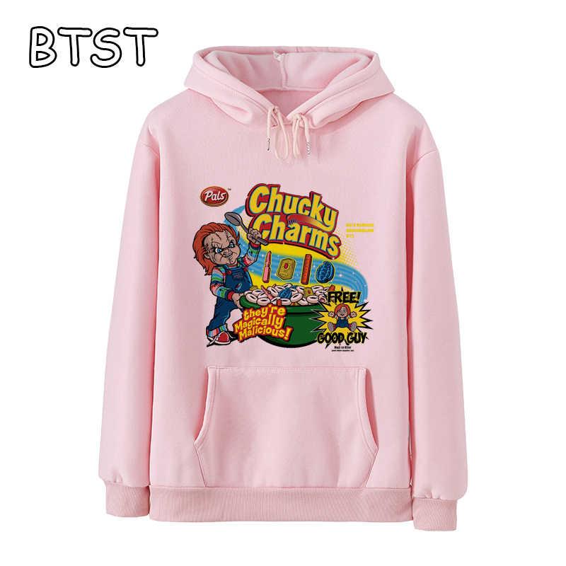 Mode Chucky Charms Nette Hoodie Winter Jacke Frauen Kpop Kawaii Kleidung Polyester Pullover Plus Größe Frauen Gothic Sweatshirts