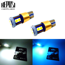 2X T10 LED Car Light Canbus W5W White Blue lamps SIDE INDICATOR License Plate Trunk Lamp Reading 12V 24