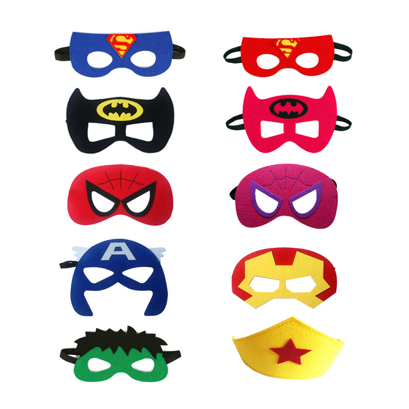 Superhero Mask Cosplay  Spiderman Magic Superman Hulk Batman Christmas Party Kids Halloween Costume