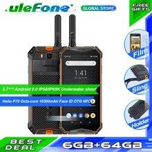 "Ulefone שריון 3WT עמיד למים IP68 Smartphone 5.7 ""אוקטה Core 6GB + 64GB helio P70 אנדרואיד 9 10300mAh הגלובלי גרסה נייד טלפון"