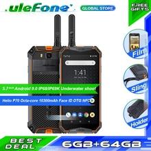 "Ulefone Armor 3WT Waterproof IP68 Smartphone 5.7"" Octa Core 6GB+64GB helio P70 Android 9 10300mAh Global Version Mobile Phone"