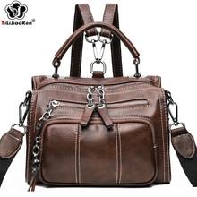 Vintage Small Backpack Women High Quality Leather Bag New Elegant Shoulder Mini Backpacks for Teenage Girls