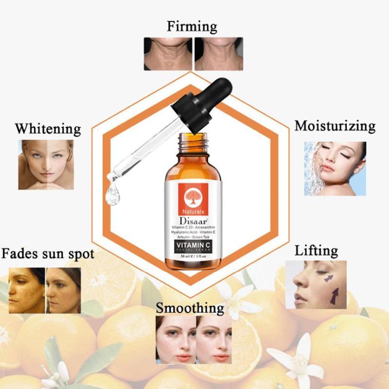 Vitamin C Serum Whitening Serum 30ml Hyaluronic Acid Face Cream Remover Freckle Spots Skin Care