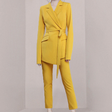 Women Pants Suits Set For Work OL 2 Two Piece Business Work