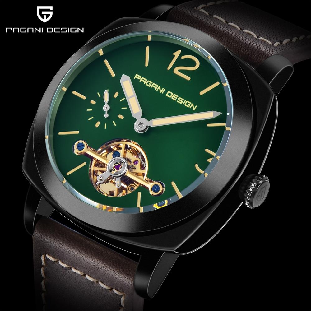 high quality PAGANI DESIGN Luxury Tourbillon Mechanical Watches Luminous Genuine Leather Fashion Casual Skeleton Automatic Watch free dropshipping 2020 (10)