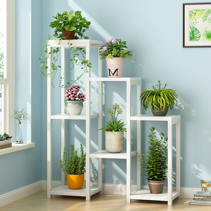 Shelves A Living Room Many Function Bedroom Green Luo Flowerpot Frame Multi-storey Indoor Iron Art Simplicity To Ground Shelf