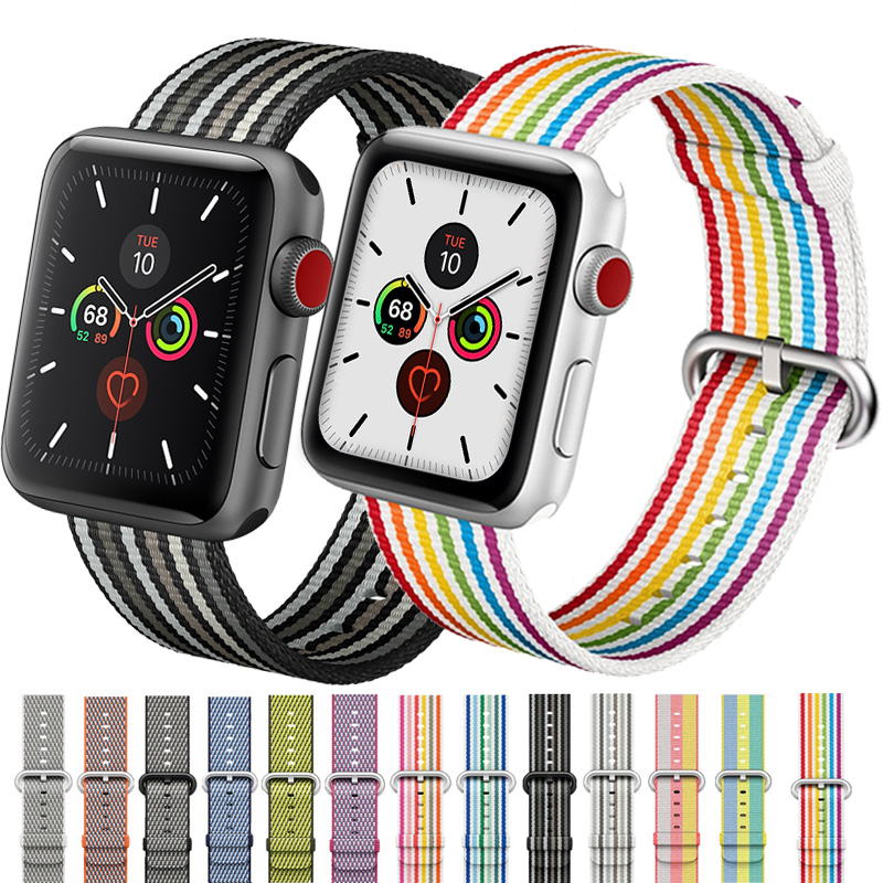 Strap For <font><b>Apple</b></font> <font><b>watch</b></font> band 5 4 44mm 40mm <font><b>apple</b></font> <font><b>watch</b></font> 3 band nylon watchband iwatch band <font><b>42mm</b></font> 38mm <font><b>pulseira</b></font> correa Bracelet belt image