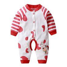 Комбинезоны для маленьких мальчиков и девочек Новый Модный хлопковый
