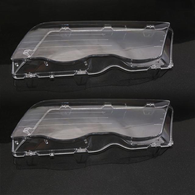 Светильник на голову автомобиля, стеклянная крышка, прозрачная 4 дверная Автомобильная левая и правая фара, светильник на голову, крышка для объектива, Стайлинг для BMW E46 98 01