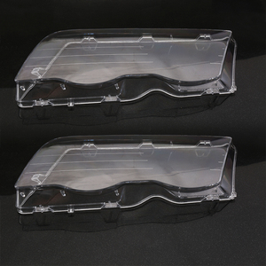 Image 1 - Car Headlight Glass Cover Clear 4 Door Automobile Left Right Headlamp Head Light Lens Covers Styling For BMW E46 98 01