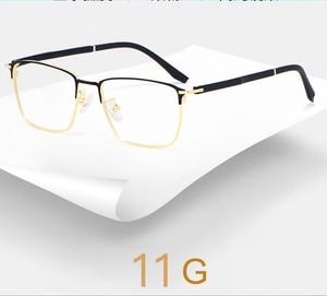 Image 4 - אופנה עסקים לגברים ונשים משקפיים סגסוגת מתכת מסגרת משקפיים עם מתכון מרשם Opticals