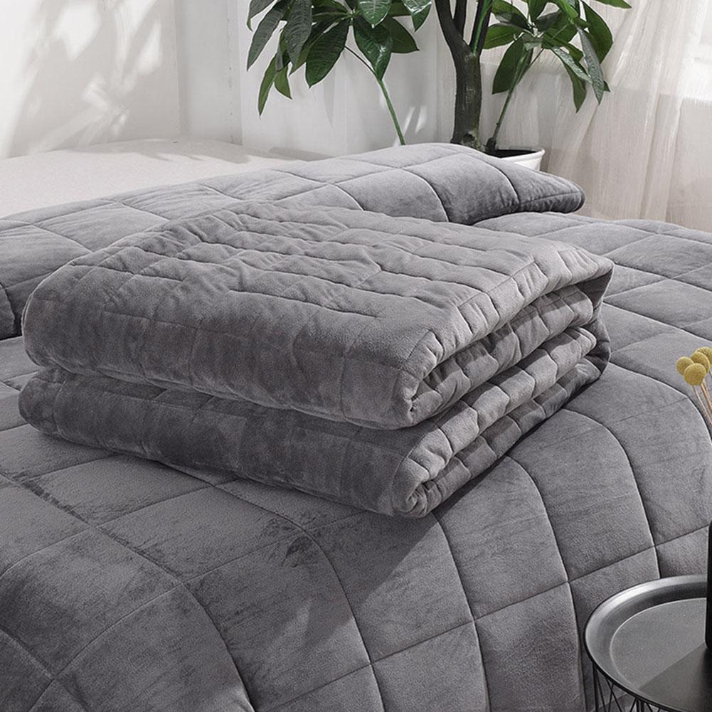 Crystal Velvet Gravity Blanket Quilt Cover Dark Grey Modern Fashion Style Warm Bed Blanket Soft Gravity Blanket Quilt Cover
