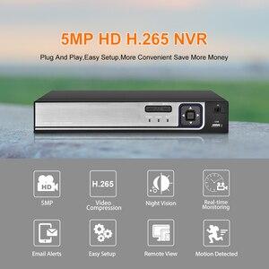Image 2 - Gadiinan enregistreur vidéo en réseau, pour caméra IP PoE, NVR, 5MP, 8CH, 4CH, Full HD, PoE 48V, IEEE802.3a, ONVIF, système de vidéosurveillance, P2P XMeye