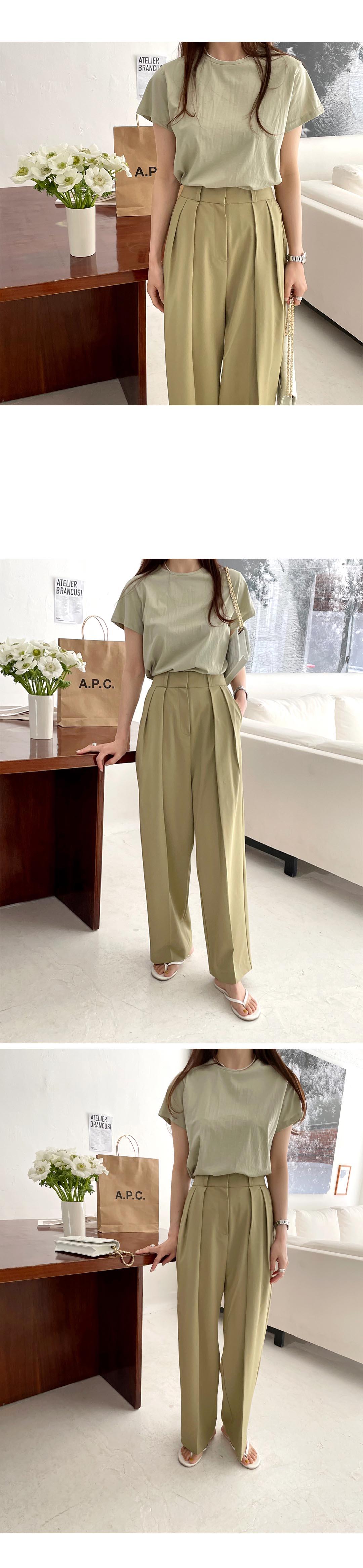 H882b34fc336e4a58872b29e13de1ef4el - Summer Korean High Waist Loose Folds Wide Leg Solid Suit Pants