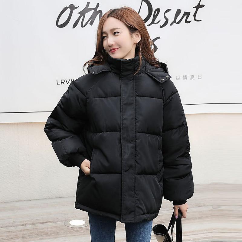 Fashion Short Winter Jacket Women Casual Warm Solid Hooded Parka Coat Office Lady 2020 New Women Women's Clothings Women's Sweaters/Coat cb5feb1b7314637725a2e7: Beige|black|Green