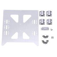Alüminyum Y arabası anodize levha Sc8Uu Pgrade Prusa I3 V2 sıcak yatak destek plakası Prusa I3 Reprap Diy 3D yazıcı parçaları|3D Yazıcı Parçaları ve Aksesuarları|   -