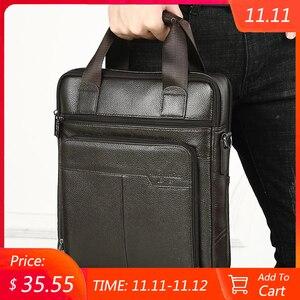 Image 1 - MEIGARDASS Genuine Leather Business Briefcase Men Travel Shoulder Messenger Bags Male Document Handbags Laptop Computer Bag
