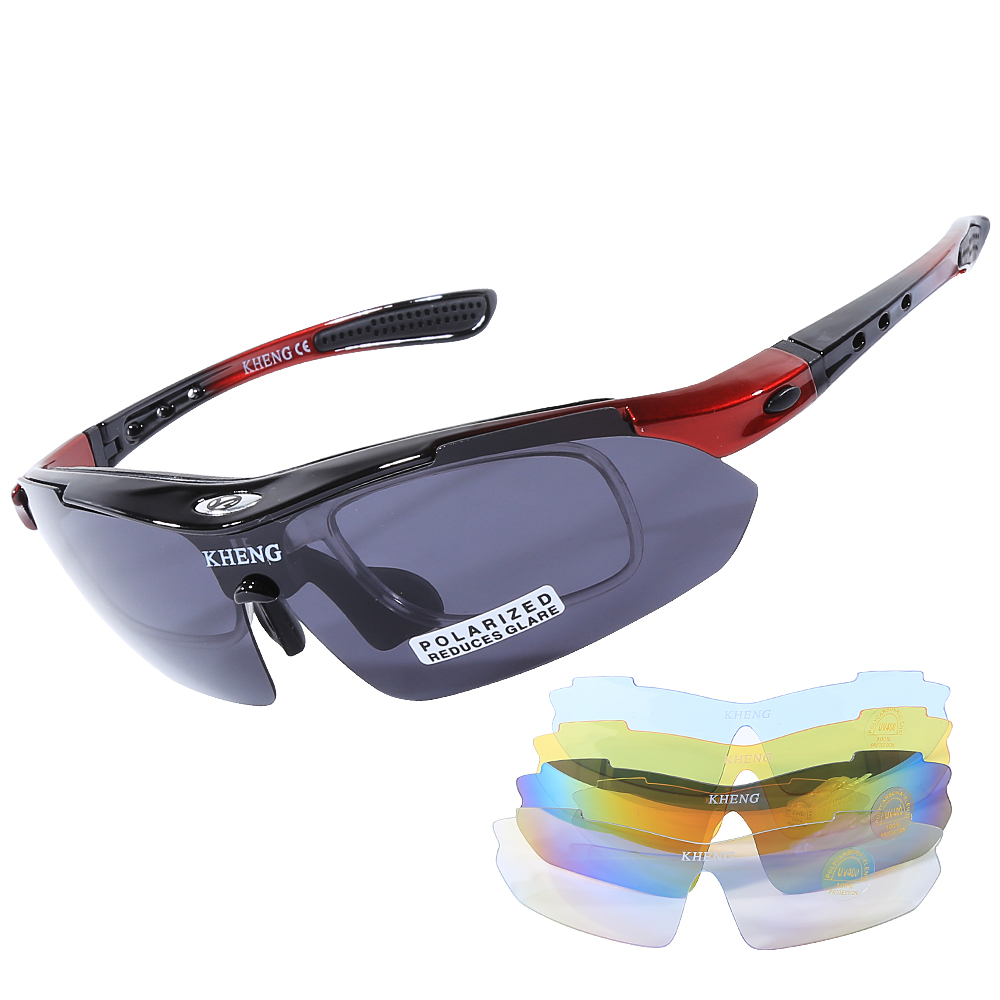 <font><b>5</b></font> <font><b>Lens</b></font> Cycling sport Sunglasses <font><b>Bike</b></font> Polarized Sun <font><b>Glasses</b></font> Bicycle Ultralight Windproof Eyewear UV400 Polarized Men Woman image
