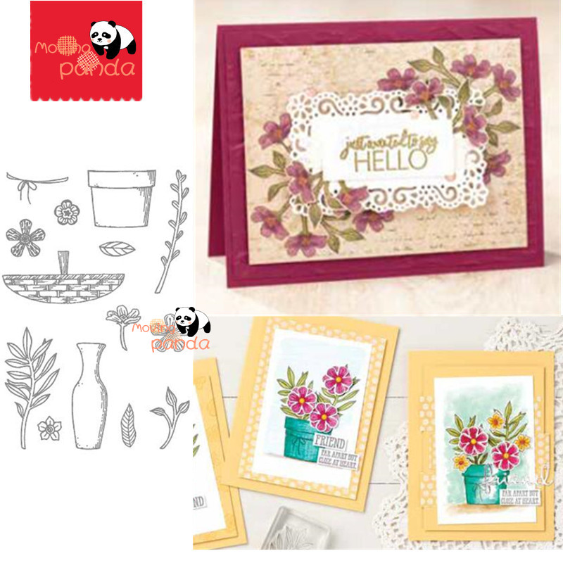 MP119 SMALL BLOOM Metal Cutting Dies And Stamps Scrapbooking For Paper Making Blossom Flower Embossing Frame Card Craft Sets