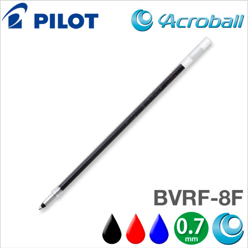 Pilot BVRF-8F 6pcs/lot Acro Ink Ballpoint Multi <font><b>Pen</b></font> <font><b>Refill</b></font> - <font><b>0.7</b></font> mm - Black/Blue/Red/Green For Dr. Grip image