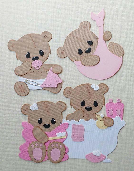 Bathtub and Baby bear Metal cutting Dies Greeting Cards Scrapbooking Die Stamp DIY Card Photo Decoration Supplies