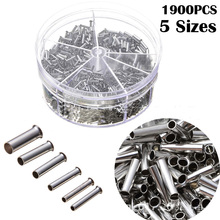 1900pcs Terminal Block Cold-Pressed Insulated Ferrules Terminal Block Cord End Wire Connector Electrical Crimp  Sleeves
