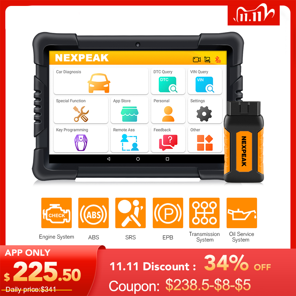 NEXPEAK K1 PRO OBD2 Car Diagnostic Scanner Tool  ABS SRS TPMS DPF IMMO Key EPB Oil Reset OBD2 Professional Automotive Scanner