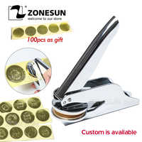 ZONESUN Custom Embosser Stempel Persoanlized Logo Embossing Seal Adres Voor Papieren Document Envelop Embosser Trouwkaarten