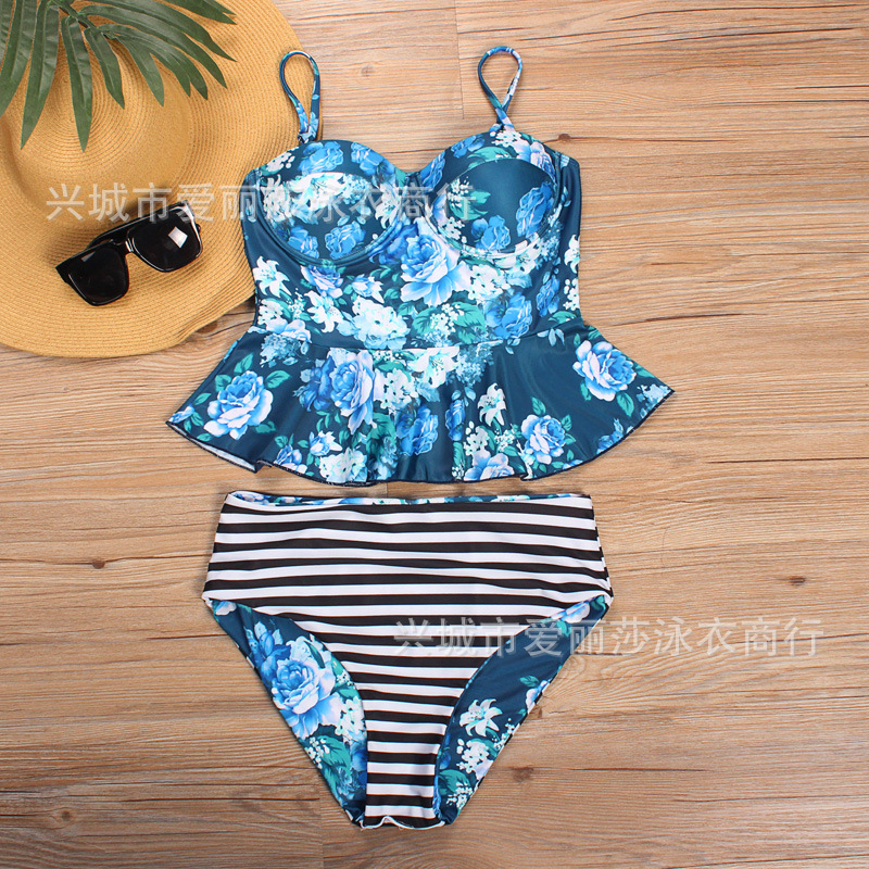Eliza 2017 New Style Beautiful Flower Sexy Fashion Bikini Sweet Swimwear Bathing Suit